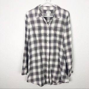 Madewell Gingham Check Buttom Down sz L